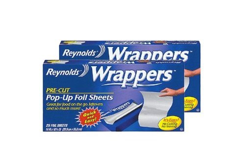 Reynolds Wrappers Pop Up / Foil Sheets (2 Pack) No cutting or Tearing... (Pop Up Foil Sheets compare prices)