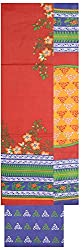 Shrumani Global Women's Cotton Unstitched Dress Material (SG011, Red & Blue)