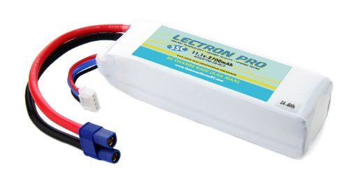 Lectron Pro 11.1 volt - 2700mAh 35C Lipo Battery for Blade 350 QX with EC3 Connector (Eflite Blade 350 compare prices)