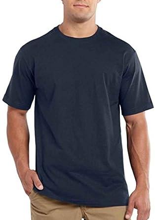 Carhartt 101124 Men's Maddock Non-Pocket SS T-Shirt Navy Small