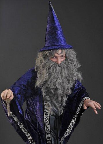 Grey Wizard Merlin Wig and Beard Set (Merlin Wig And Beard Set)