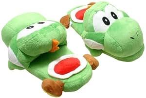 Super Mario Brothers: Green Yoshi Slippers Plush