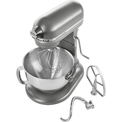 Kitchenaid 6000 HD STAND MIXER 6 qt (updated version of r-kp26m1xcu 600 series) BIG Super Capacity Countor Silver Professional Large, Perfect for Stainless Steel Kitchens.