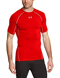Under Armour Herren Fitness T-Shirt und Tank HG Short Sleeve Tee, Red, M, 1257468