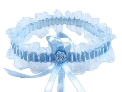 Hellblaues Strumpfband 40 mm breit