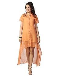 Love From India - Peach Dress For Women_100287_PEACH_XL