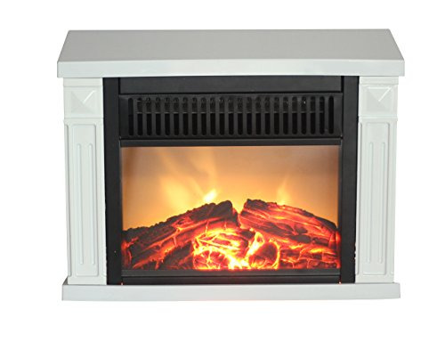 Cheer Glow EMF162 1200-watt Hearth Portable Electric Fireplace Classic, Mini, White