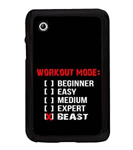 Gym Quotes 2D Hard Polycarbonate Designer Back Case Cover for Samsung Galaxy Tab 2 :: Samsung Galaxy Tab 2 P3100
