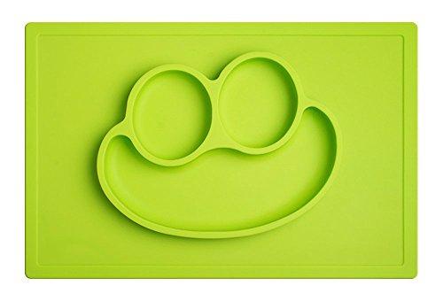 Rutschfeste-Tischunterlage-Platzmatte-aus-Silikon-einfach-abwaschbar-super-geeignet-zum-Essen-lernen-fr-Babys-und-Kleinkinder-Tischset-Babyschale-Kinderteller-Babygeschirr-grn