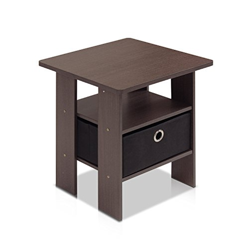 Petite Dark Brown End Table Side Office Coffee Living Dining Bed Room Sofa Outdoor Patio Console front-224813