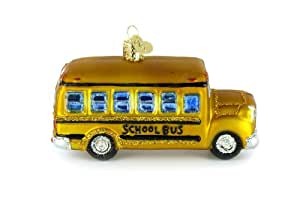 Old World Christmas Glass Ornament - Yellow School Bus