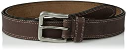 Timberland Men\'s Big and Tall 35Mm Boot Leather Belt, Dark Brown, 56