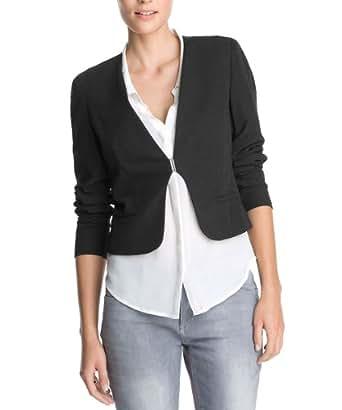 ESPRIT Collection Damen Blazer Q23050, Gr. 44 (XXL), Schwarz (001 Black)