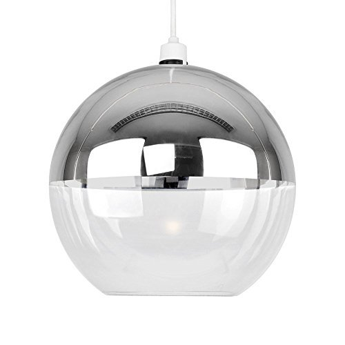 modern-silver-chrome-clear-glass-ball-ceiling-pendant-light-shade