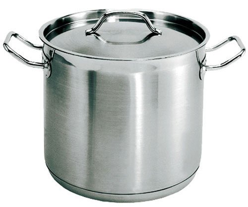 Update International SPS-100 Stainless Steel Induction Ready Stock Pot with Cover, 100-Quart