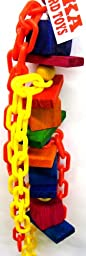 Bonka Bird Toys 1799 Chewy Chain Climber Bird Toy parrot cage toys cages cockatiels conures pionus