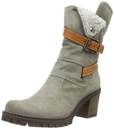 MANAS CERVIA - Stivali alti con imbottitura pesante Donna, colore Grigio (Fumo+Cuoio+Nero), taglia 37 EU