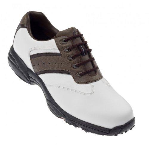 FootJoy 2012 Men's GreenJoys Golf Shoes - White/Brown