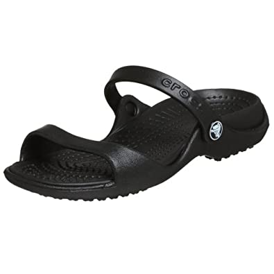 Crocs Women's Cleo Slide,Black/Black,4 M