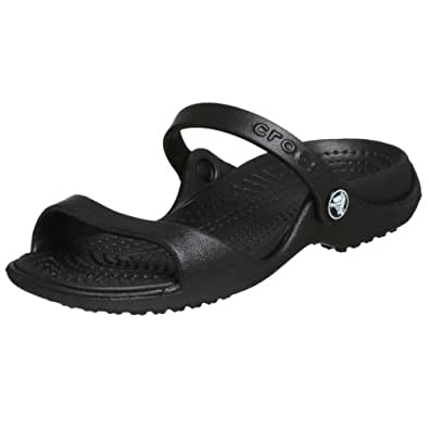 Amazon.com: Crocs Women's Cleo Slide,Chocolate/Cotton ...