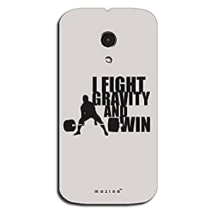 Mozine Fight Gravity And Win printed mobile back cover for Motorola Moto G 2nd gen