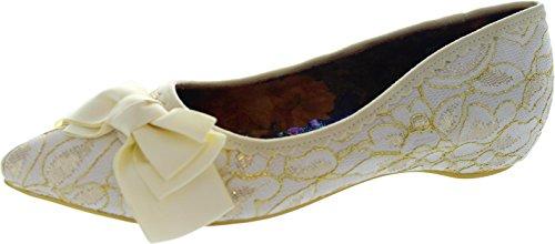 Irregular Choice Balsam, Ballerine donna Bianco bianco, Bianco (bianco), 36.5