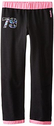 Reebok Big Girls' French Terry Sweatpants, Black, Medium front-922391