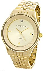 Anne Klein Women's AK/1732CHGB Gold-Tone Bracelet Crystal Watch