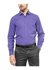 First Row Cotton Purple Formal Shirt