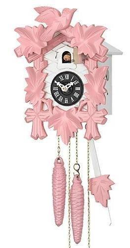 Cuckoo Clock - Musical, Quartz, Battery Operated - Pink