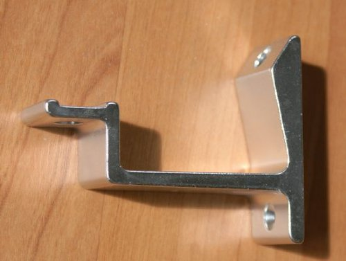 Silver handrail bracket, straight bearing surface