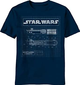 d0f3baf10c8 Star Wars Lightsaber Diagram Mens Navy T-Shirt