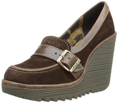 Fly London Women's Chet Court Shoes P500408001 Expresso/Dark Brown 7 UK, 40 EU