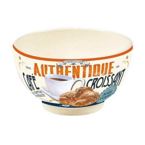 BOLO ciotola tazza colazione cereali ZUPPA NATIVES tipo VINTAGE decoro 410210 CAFE' CROISSANT cornetto