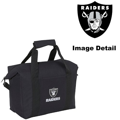 Oakland Raiders 12-Pack Sports Drink Beer Water Soda Beverage Can Bottle Insulated Picnic Outdoor Party Beach Bbq Kooler Cooler Bag front-961803