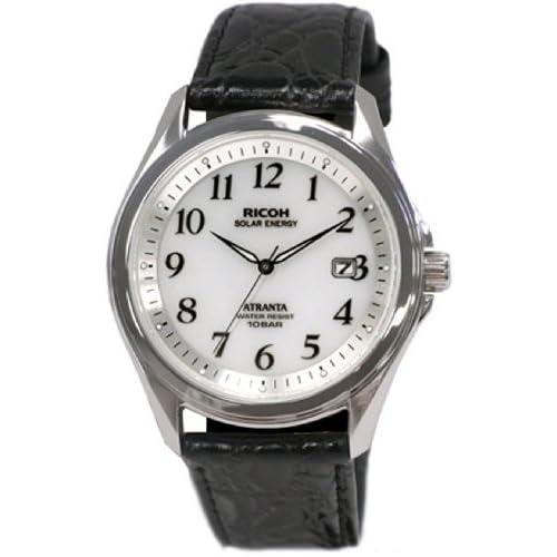 [リコー]RICOH 腕時計 ATRANTA(アトランタ) ソーラー充電 アナログ表示 スタンダード 10気圧防水 アラビアインデックス ホワイト 697005-05 メンズ