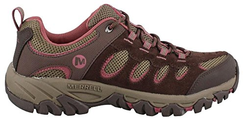 New Merrell Women's Ridgepass Hiking Shoe Espresso/Blushing 8