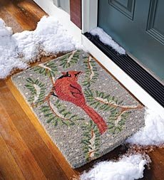 Holiday Coir Doormat-Snowflake