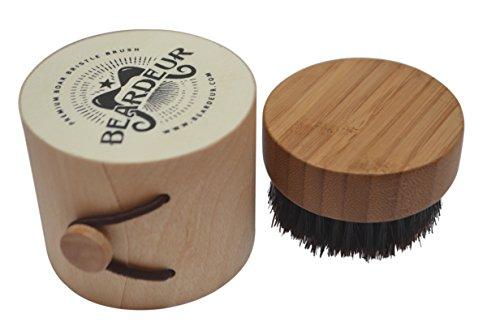 Mini Travel Size Beard Brush For Applying Beard Balm Pure