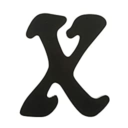 Darice 9189-X Solid Wood Letter, Capital X, 9\