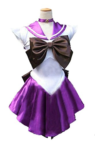 [Dillian Womens Sailor Moon Mars Costume Cosplay Party Dress & Gloves,Purple,L] (Elvira Plus Size Costumes)