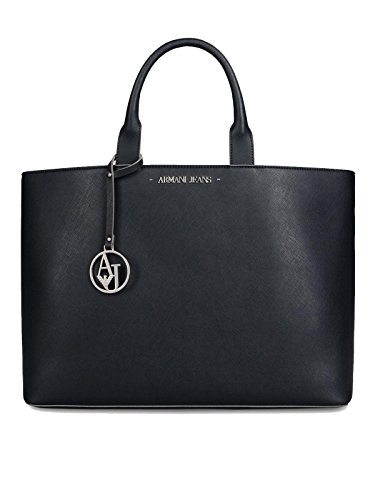ARMANI JEANS Tote bag / Borsa shopping Pelle sintetica Donna DARK NAVY PZ