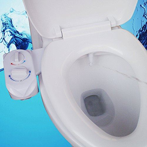 Vdomus® Self Cleaning Nozzle - Fresh Water Non-Electric Mechanical Bidet Toilet Attachment