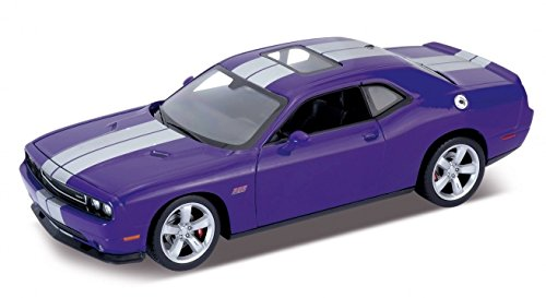 Welly 2013 Dodge Challenger SRT Hard Top 1/24 Scale Diecast Model Car Purple (Diecast Model Cars compare prices)