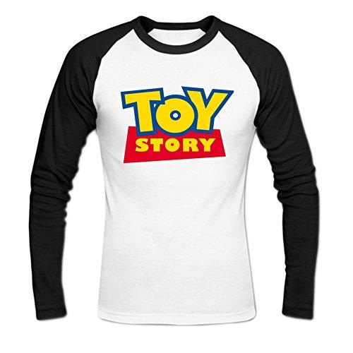 Men's Toy Story Long Sleeve Baseball Shirt S White (Toy Story Shirts)