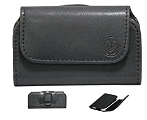 Jo Jo A4 Nillofer Belt Case Mobile Leather Carry Pouch Holder Cover Clip For BLU Win JR LTE Black