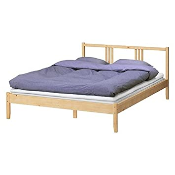 Fancy Ikea Full Bed Frame Solid Wood with Headboard