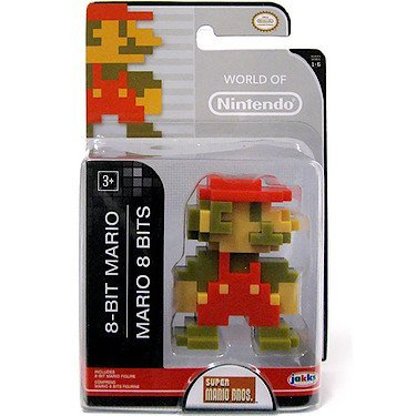 "World of Nintendo 86730 2.5"" 8 Bit Mario Action Figure"