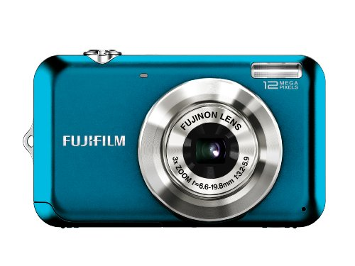 Fujifilm FinePix JV100 12 MP Digital Camera with 3x Optical Zoom and 2.7inch LCD (Blue)
