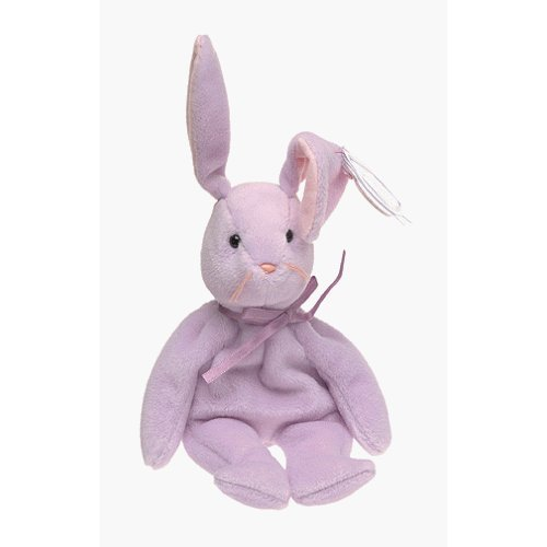 Floppity the Purple Bunny Rabbit - MWMT Ty Beanie Babies - 1